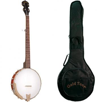 Custom Gold Tone CC-50 Economy Cripple Creek Beginner Banjo (Five String, Maple) with Gig Bag