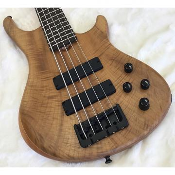 Custom Roscoe SKB Standard Plus 5-String Bass,  Myrtle Wood, Spanish Cedar, Wenge.