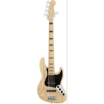 Custom Fender American Elite Jazz Bass V 5 String Maple Fingerboard Ash Natural Finish