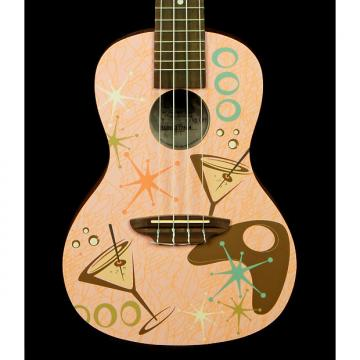 Custom New! Luna Pink Martini Mahogany Concert Ukulele with Gigbag