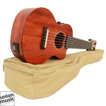 Custom Gretsch G9126 ACE Guitar Ukulele Gig Bag Fishman Kula Honey Mahogany Stain