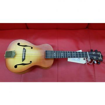 Custom Amahi C-31 Tiger Maple Concert Ukulele with Electronics Sunburst FREE Strap, Cloth, Sunglasses