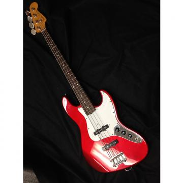 Custom Used Fender Jazz Bass Candy Apple Red-made in Japan