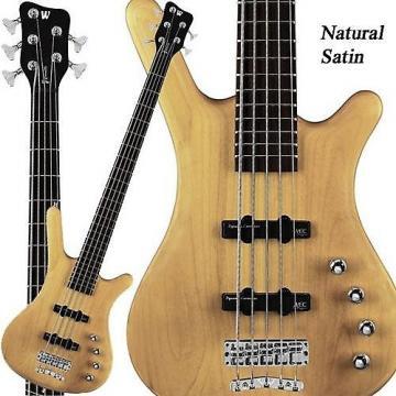 Custom Warwick RockBass Corvette Basic 5-String Bass (Natural Satin)