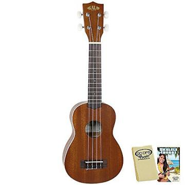 Custom Kala KA-S Satin Soprano Ukulele with GoDpsMusic Ukulele Chord Guide and Polish Cloth