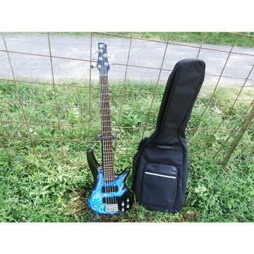 Custom One of a Kind Custom Airbrushed Korean Ibanez SR305DX 5 string Upgraded pots W/ Free Deluxe Gigbag