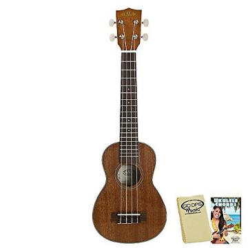 Custom Kala KA-SLNG Long Neck Soprano Ukulele with GoDpsMusic Ukulele Chord Guide and Polish Cloth