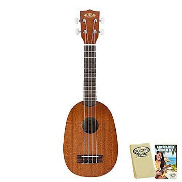 Custom Kala KA-P Satin Pineapple Soprano with Kala Bag, GoDpsMusic Ukulele Chord Guide and Polish Cloth