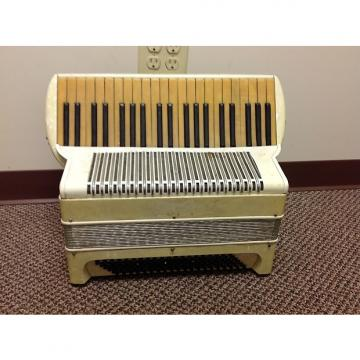 Custom Vintage Accordion Student Model, Serial #22006 Aged White For Repair