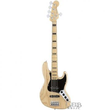Custom Fender American Elite Jazz Bass V Ash Body Maple Fingerboard, Natural W/Case - 0197102721