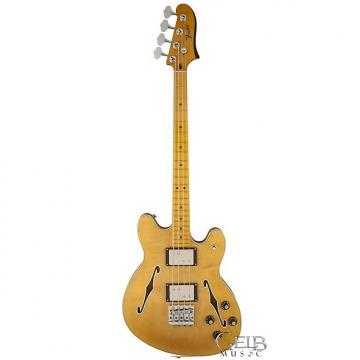 Custom Fender Starcaster Hollowbody Electric Bass Guitar in Natural - 0243302521
