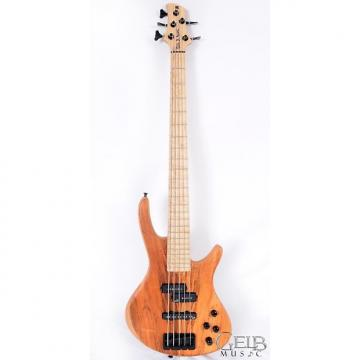 Custom Roscoe Century Standard 5 Plus Electric Bass Guitar, Exotic Koa Top, in Oil Finish - H036