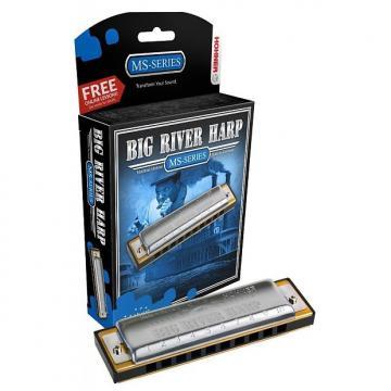 Custom HOHNER Big River Harmonica, Key F#, Germany, Diatonic,  Includes Case, 590BL-F#