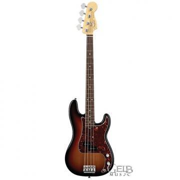 Custom Fender American Standard Precision Electric Bass Guitar, 3-Color Sunburst W/Case - 0193600700