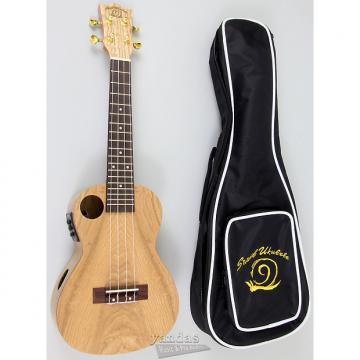Custom Amahi Snail Series Ukulele Quilted Ash - With Electronics