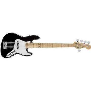 Custom Fender American Standard Jazz Bass V 5-String Bass Guitar (Black, Maple Fingerboard) Used
