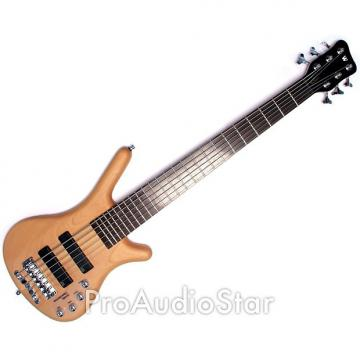 Custom Warwick Corvette Basic 6-String Active Electric Bass Guitar in Natural Satin