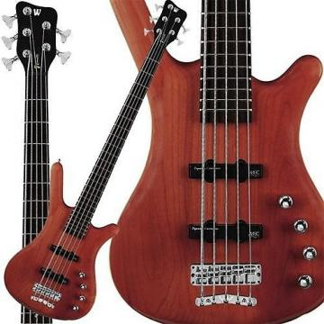 Custom Warwick RockBass Corvette Basic 5-String Bass Burgundy Red Oil