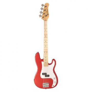 Custom Jay Turser JTB-400M Series Electric Bass Guitar, Candy Apple Red