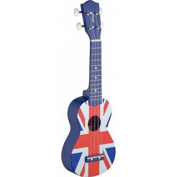 Custom Ukulele Soprano Stagg Union Jack UK FLAG (+ housse)