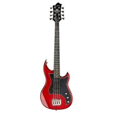 Custom Hagstrom HB-8, 8-String Electric Bass, Wild Cherry Transparent