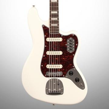 Custom Squier Vintage Modified Bass VI, 6-String, Olympic White