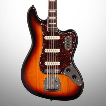 Custom Squier Vintage Modified Bass VI, 6-String, 3-Color Sunburst