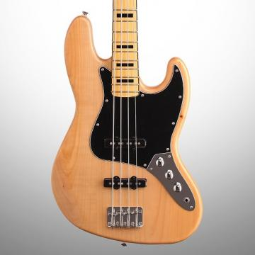Custom Squier Vintage Modified '70s Jazz Electric Bass, Natural