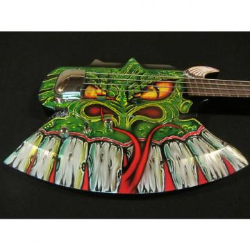 Custom Gene Simmons Cort Axe Bass - Custom Painted by Gentry Riley - Green Serpent