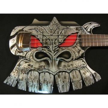 Custom Cort Gene Simmons Axe Bass Custom Painted by Gentry Riley - Silver Dragon