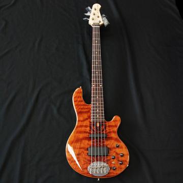 Custom Lakland USA Custom Deluxe Flamed Redwood 5 String Bass