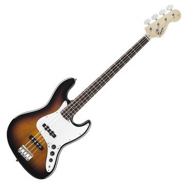 Custom Squier Affinity Series Jazz Bass with Rosewood Fingerboard - Brown Sunburst