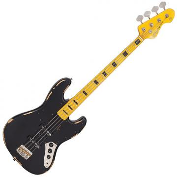 Custom VINTAGE ICON BASS - MAPLE BOARD - DISTRESSED BLACK