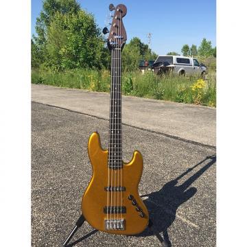 Custom Warmoth Custom 5-string Jazz bass 2016 Gold
