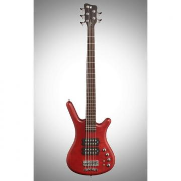 Custom Warwick GPS Corvette Double Buck 5 Electric Bass, 5-String, Burgundy Red Oil
