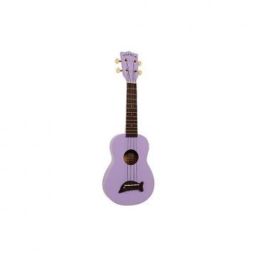 Custom Kala Makala Dolphin Purple (+ housse) - Ukulele Soprano