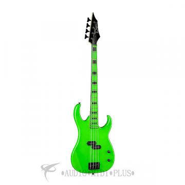 Custom Dean Guitars Zone 4 Strings Electric Bass Guitar Nuclear Green - CZONEBASSFLP - 819998018887