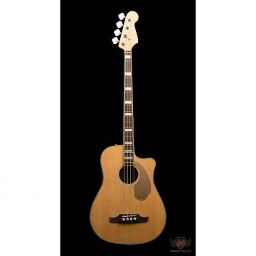 Custom Pre-Owned Fender Kingman Acoustic Electric Bass w/Hardshell & Soft Case - Natural (496)