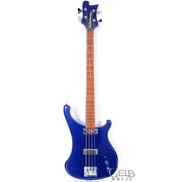 "Custom Rickenbacker 4004L MID Bass in ""Laredo"" Midnight Blue, Super Contoured Hardwood Body - 4004LMID"