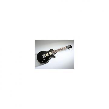 Custom Risa LP363 E-ukulele noir (+ housse) - Ukulele électrique soprano forme LP