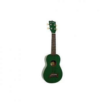 Custom Kala Makala Dolphin vert (+ housse) - Ukulele Soprano