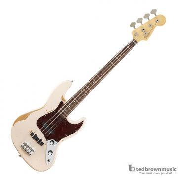 Custom Fender Flea Replica 61' Jazz Bass - Road Worn Shell Pink