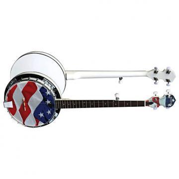Custom Morgan Monroe USA-OGB 5-String Banjo American Flag REMO Head