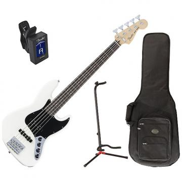 Custom Fender 014-3610-305 Deluxe Active J Bass Guitar Bundle