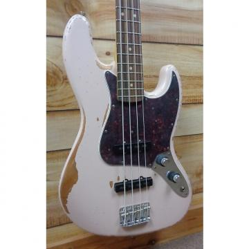 Custom New Fender® Flea Signature Jazz Bass® Road Worn Faded Shell Pink w/Gigbag