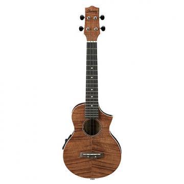 Custom Ibanez UEW15E-OPN EW Electro-Acoustic Cutaway Concert Style Ukulele, Mahogany