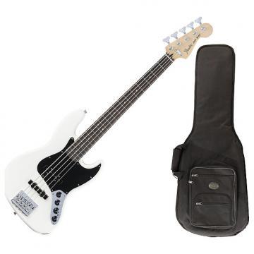 Custom Fender 014-3610-305 Olympic White Deluxe Active Bass V Guitar