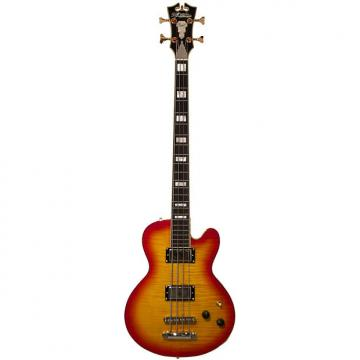 Custom D'Angelico EX-SD Bass Cherry Burst 4 String with Hard Case