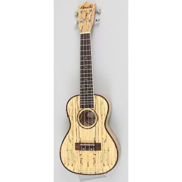 Custom Amahi UK770 Classic Spalted Maple Ukulele - Concert - With Electronics