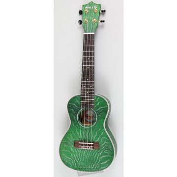 Custom Amahi C-24 Concert Ukulele | Quilted Ash Green